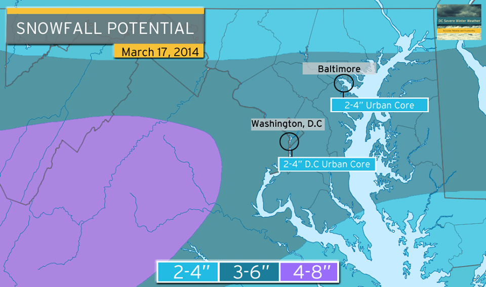 snow map March 17