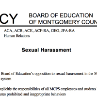 BOE policy sexual harassment