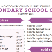 MCPS lunch menu