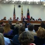 Board of Education members and Superintendent Joshua Starr at a November 2013 CIP hearing.